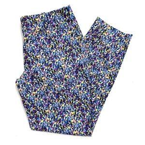 Ann Taylor Cropped Printed Pants